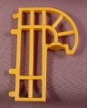 Playmobil Yellow Gold Connector With A Rounded Edge To Go Over An Animal Cage Wall, 3650, 30 08 0940