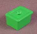 Playmobil Green Rectangular Flower Pot With A Single Hole And 2 Clips, 3634 3855, 30 08 1140