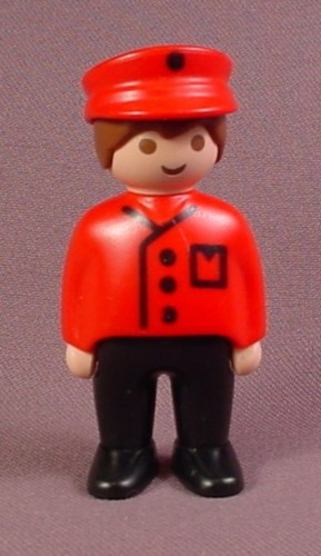 Playmobil 123 Train Engineer Or Conductor Figure, 6901 Freight Train Set