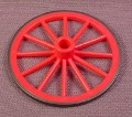 Playmobil Dark Pink Rear Wagon Wheel With Black Tire, 55Mm, 5601 7261, Victorian