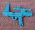 Tmnt Blue Pulverizing Pistol Weapon Accessory, 1991 Machine Gunnin' Rocksteady