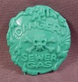 TMNT Green Sewer Gas Shield Accessory, 1990 Napoleon Bonafrog Action Figure
