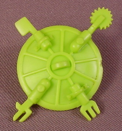 Tmnt Swiss-Army Sewer Cover Accessory, 1989 Rock 'N Roll Michelangelo Figure