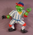 TMNT Grand Slammin' Raph Action Figure, 1991 Playmates, Sewer Sports Allstar Series