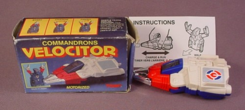Mcdonalds 1985 Tomy Commandrons Velocitor Transformer In Original Box