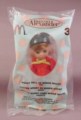 Mcdonalds 2004 Madame Alexander Wendy As Minnie Mouse Doll Toy Sealed