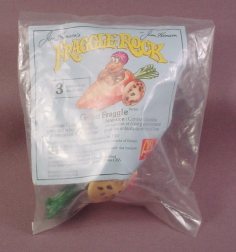 Mcdonalds 1988 Fraggle Rock Gobo In Carrot Car Toy Sealed In Original Bag