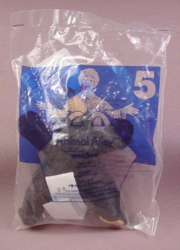 Mcdonalds 2001 Animal Alley Cole Black Bear Plush Toy, Sealed, #5