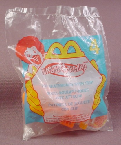 Mcdonalds 2000 Fingerboard Skateboard Toy, Sealed In Original Bag, #4