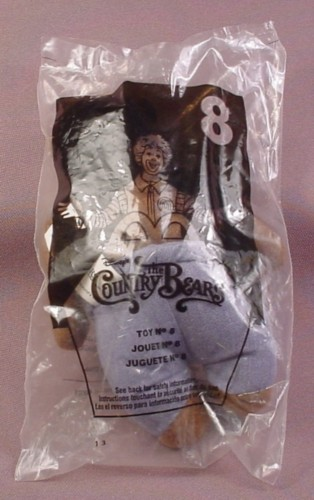 Mcdonalds 2002 Disney Country Bears Fred Bedderhead Toy, Sealed, #8
