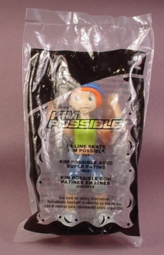 Mcdonalds 2003 Disney In-Line Skate Kim Possible Toy, Sealed, #2
