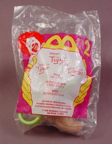 Mcdonalds 2000 Disney The Tigger Movie Roo Soft Toy, Sealed, #2