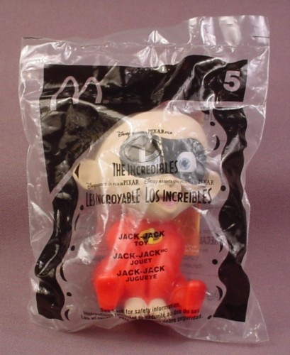 Mcdonalds 2004 Disney The Incredibles Jack-Jack Toy, Sealed, #5