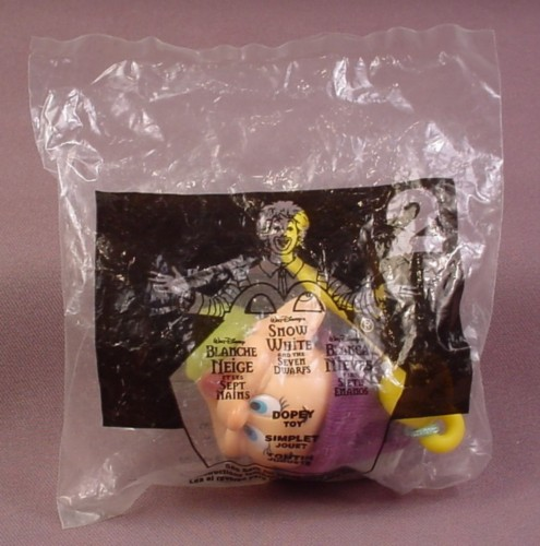 Mcdonalds 2001 Disney Snow White Dopey Toy, Sealed In Original Bag, #2