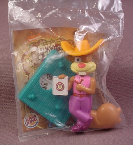 Burger King 2008 Spongebob Squarepants Pest Of The West Sandy Toy, Sealed