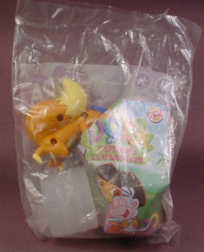 Burger King 2004 Dora The Explorer Swiper & Magnifying Barrel Toy, Sealed