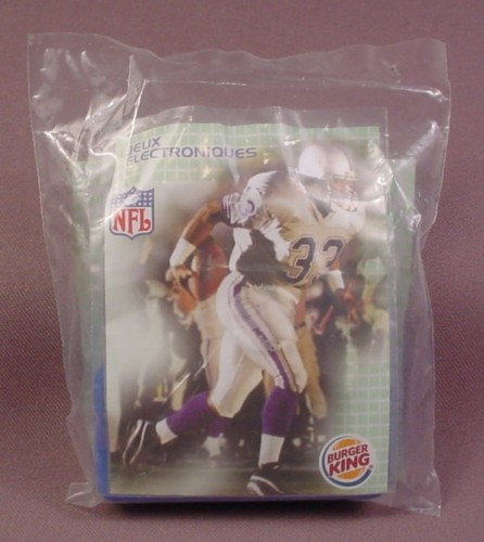 Burger King 2005 Electronic Nfl Football Toy, Sealed In Original Bag