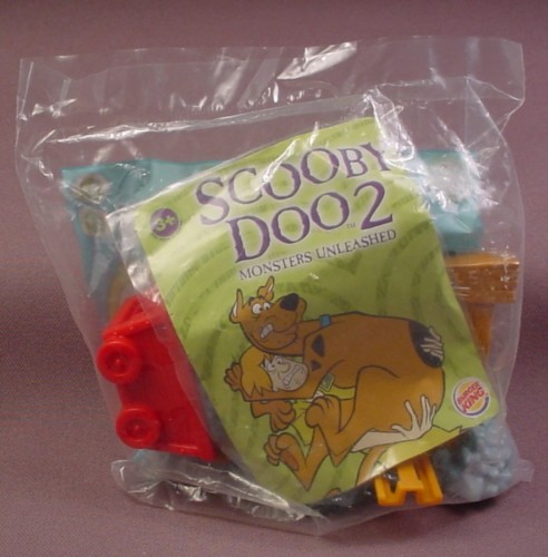 Burger King 2003 Scooby Doo Mine Car Launcher Toy, Sealed In Original Bag