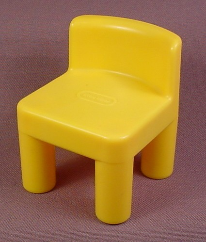 Little Tikes Original Dollhouse Yellow Kitchen Chair & Little Tikes Original Dollhouse Yellow Kitchen Chair - RONS RESCUED ...