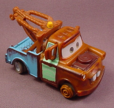 Disney Pixar Cars Mater Tow Truck, Swerves From Side To Side As It Backs Up