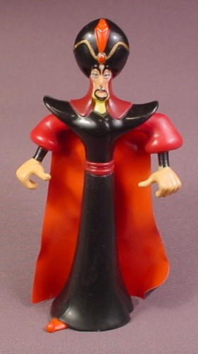 Disney Aladdin Jafar Villain Figure, 5 3/8 Inches Tall, 1992 Mattel, The Arms & Waist Are Jointed