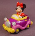 Disney Minnie Mouse PVC Figure In Metal Car , 3