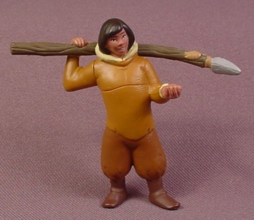 "Disney Brother Bear Kenai Human Holding A Spear PVC Figure, 2 1/2"" Tall"