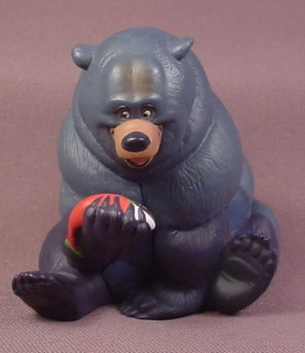 "Disney Brother Bear Tug Grizzly Bear With Salmon Figure, 3 1/8"" Tall"