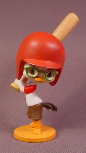 "Disney Chicken Little PVC Figure, Baseball Batting Helmet & Bat, 3 3/4"" Tall"