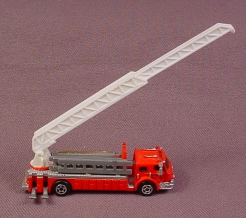 Micro Machines 1989 Red Fire Truck With Extension Ladder, Galoob