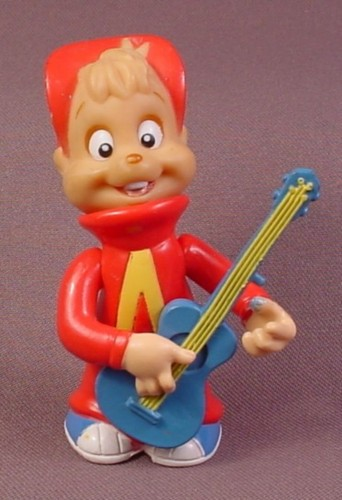 """Alvin Playing The Guitar Figure, 3 1/2"""" Tall, Alvin And The Chipmunks"""