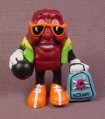 California Raisins PVC Figure, Benny With Bowling Ball And Case, 2 3/8