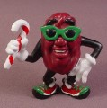 California Raisins PVC Figure, With Candy Cane, Green Sunglasses, 2 5/8