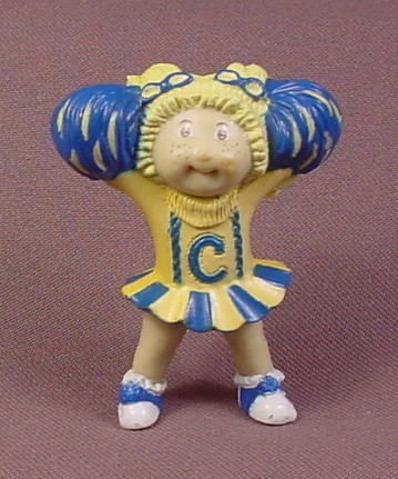 Cabbage Patch Kids Mini PVC Figure Cheerleader Blue Yellow Outfit