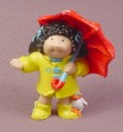 Cabbage Patch Kids Mini PVC Figure Yellow Raincoat & Umbrella