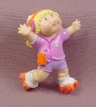 Cabbage Patch Kids Mini PVC Figure Roller Skating Pink Shirt