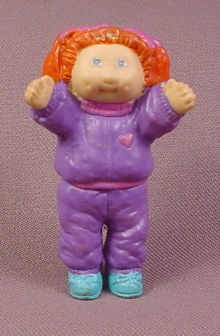 "Cabbage Patch Kids Mini Rubber Or Eraser Figure, 2 3/4"" Tall, 1984"