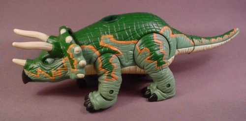 "Fisher Price Imaginext Tank The Triceratops Dinosaur, 10 1/2"" Long"