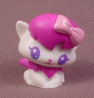 Purse Pals Maple Kitty, White With Purple Scarf & Hat, 2006