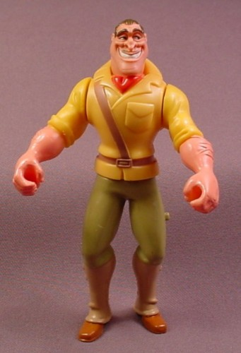 Disney Tarzan Clayton Action Figure Toy, 5 Inches Tall, Has Spring Loaded Arms, 1998 McDonalds