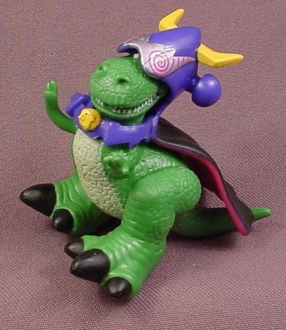 Disney Toy Story Rex With Zurg Costume Pvc Figure 2 5 8 Tall