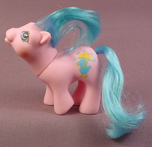 My Little Pony Baby Rainfeather, Drink 'N Wet Baby Ponies, 1989 Hasbro -  RONS RESCUED TREASURES