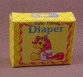 My Little Pony G1 Baby Pony Diaper In Yellow Box, Hasbro