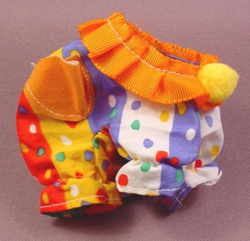 My Little Pony G1 Baby Wear Clown Costume With Yellow Pom Pom, 1985 Hasbro