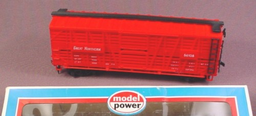 Model Power Ho Scale Great Northern Livestock Cattle Car 56108, Model 631