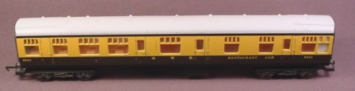 Lima Oo Scale Gauge Restaurant Car, Great Western 9542, Railroad Train, Made In Italy