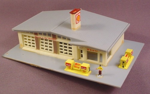N scale gauge bachmann 7404 shell gas service station for Cost to build shell of house