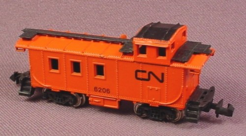N Scale Gauge Bachmann Orange & Black Cn Rear Cab Caboose 6206, Railroad Train