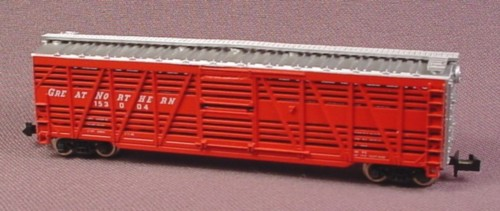 N Scale Gauge Atlas 50' Livestock Stock Car, Great Northern 153004, Railroad Train