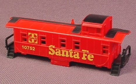 N Scale Gauge Aurora Red & Black Santa Fe Rear Cab Caboose (Body Only, No Chassis)